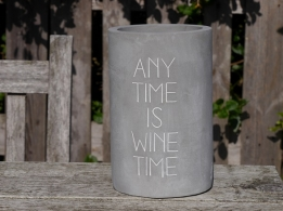 Räder concrete wine cooler Any time is wine time