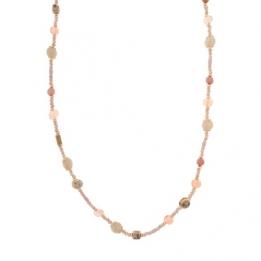 0 669 Biba ketting gold light coral