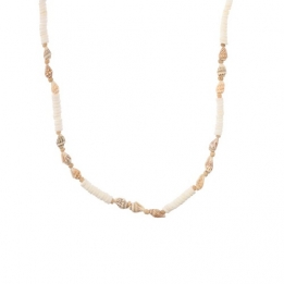 0 661 Biba ketting White-natural shell