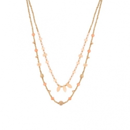 0 663 Biba ketting gold light coral