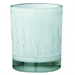 0 Räder Flocked poetrylight Winter Landscape, glas