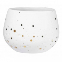 Räder Light stardots white-gold, porselein