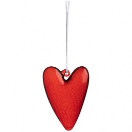 Räder Glass Heart hanger, rood