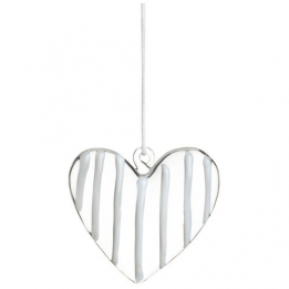 Räder Glass heart hanger, transparant wit