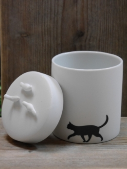 Räder porcelainstories pot met deksel Cat