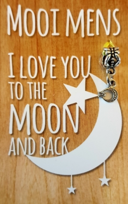 Mooi Mens kaartje -I love you to the moon (maan)