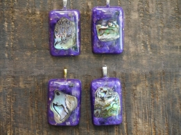 P21 Plasma Energy Hanger Abalone Purple Rectangle